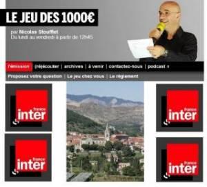 Jeu des 1000 euros France Inter Laragne