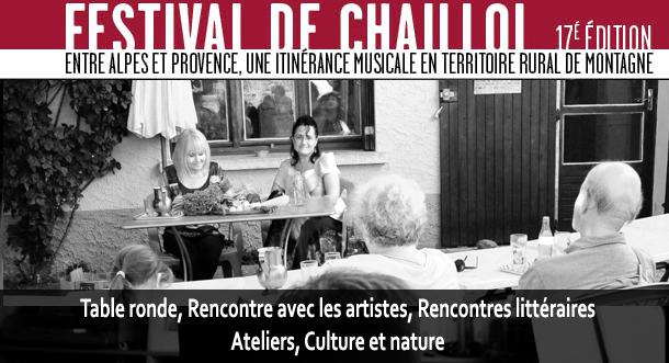 Rencontres et ateliers du Festival de Chaillol