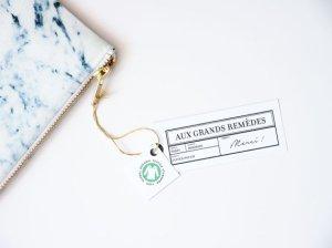 Aux Grands Remèdes - Paris - pochette, trousse, blague à tabac - clutch, pouch, tobacco pouch