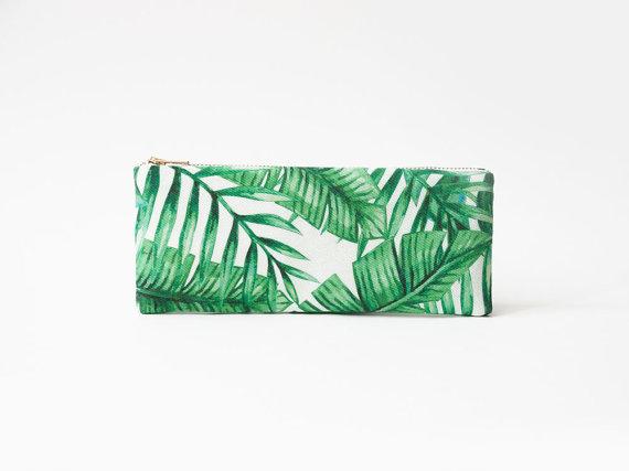 Trousse - motif : palmes